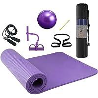 Lixada Yoga Mat Non Slip Eco Vriendelijke Pilates Oefening Mat Fitness Gymnastiek Mat met Draagbare Sling voor Fitness…