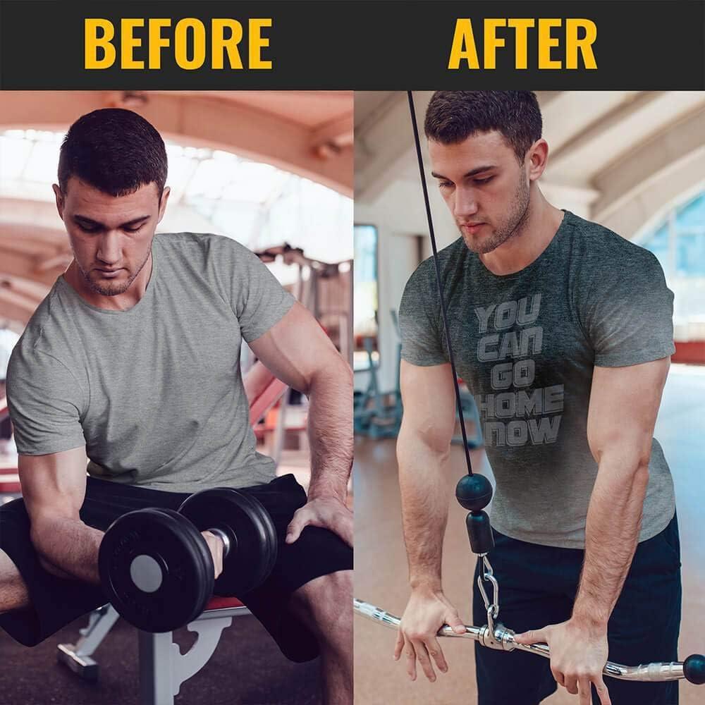 Actizio – Ropa de entrenamiento activada por el sudor, divertida camiseta de entrenamiento motivacional, puedes ir a casa ahora