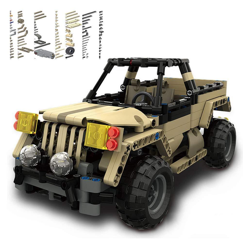WJBK Modelo eléctrico para niños Tanque de Control Remoto Bloque de construcción DIY Ensamblaje Puzzle Ciencia y educación Juguete