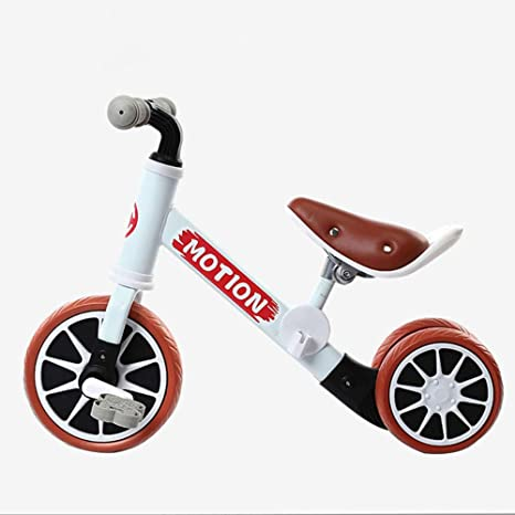 Los Niños Equilibrio Bicicleta para 1 Año De Edad,Bebé Push Bike con Ruedas De Entrenamiento Niña Niño,Bicicleta para Niños Pequeños con Pedales 2-niño De 4 Años Blanco: Amazon.es: Deportes y aire libre