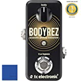TC Electronic BodyRez Acoustic Pickup Enhancer Pedal with Microfiber and 1 Year Everything Music Extended Warranty