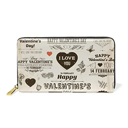 Amor del Día De San Valentín Monedero Cremallera Billetera ...