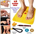 Acupressure Power Mat with Magnets n Pyramids for Pain Relief Useful for Heel Pain - Knee Pain - Leg Pain - Sciatica - Cramps - Migraine - Depression With Acupressure Health Care Products - Classic