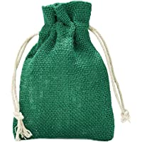 organzabeutel24 | 10 Jutesäckchen mit Baumwollkordel, Größe: 30x20 cm, 100% Jute, Winter-Topfschutz, Jute-Winterdekoration, Jute-Geschenkverpackung