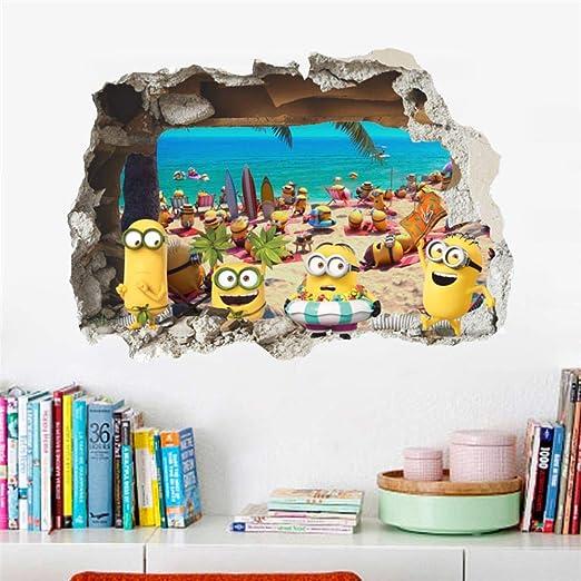 LALY A SHOP 3 Piezas Lovely Minions Sea Beach 3D Agujero ...