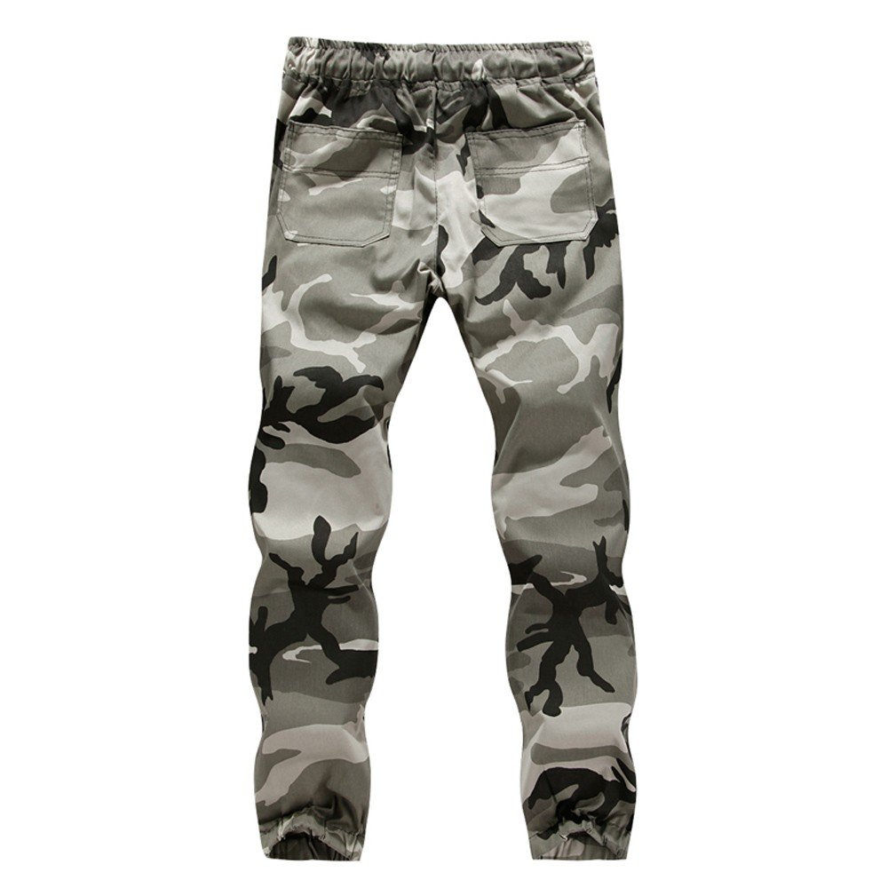 52c6b73a207 Amazon.com  WUAI Men s Cargo Pants Outdoors Jogger Camo Slim Fit Sports  Drawstring Plus Size Athletic Active Trousers  Clothing