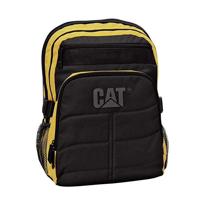 CAT Brent - Mochila para portátiles y netbooks (Negro, Amarillo)