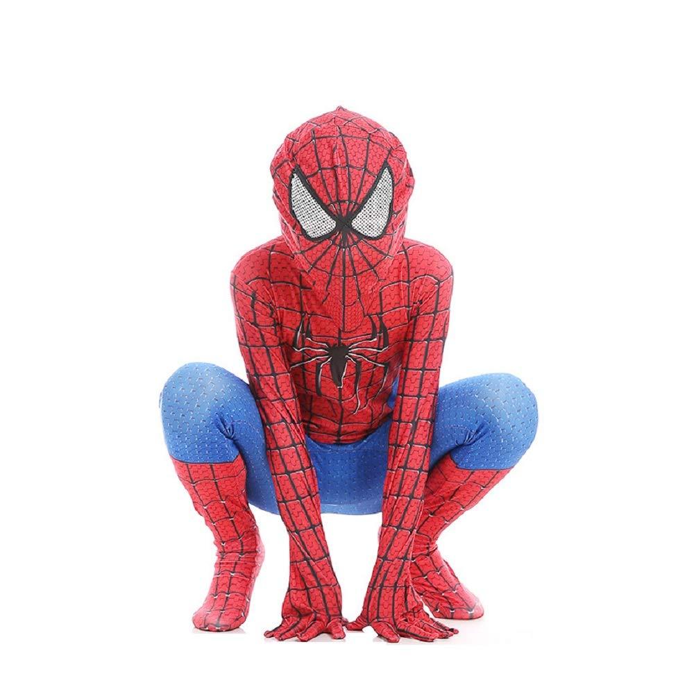 , RotBlau Nuovo Diudiul Luxury Kids Supereroe Spiderman Costumi per Bambini Party Cosplay Costumi XS 100-110cm