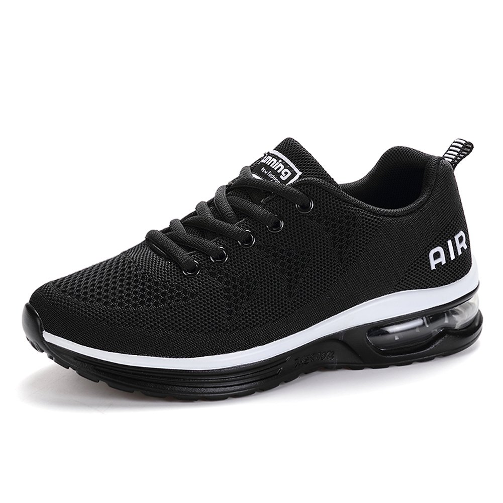 RomenSi Men's Air Cushion Sport Running Shoes Casual Athletic Tennis Sneakers Blackwhite US11