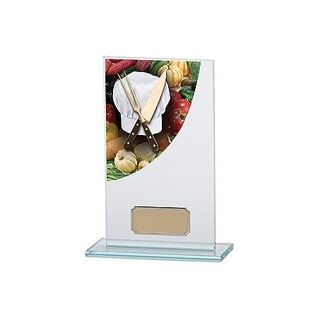 Chef/cocinar Curve Premium Jade cristal trofeos, 13,9 cm ...