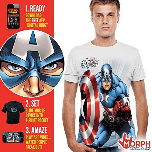 Captain America Costume T-Shirt - America Morphsuit