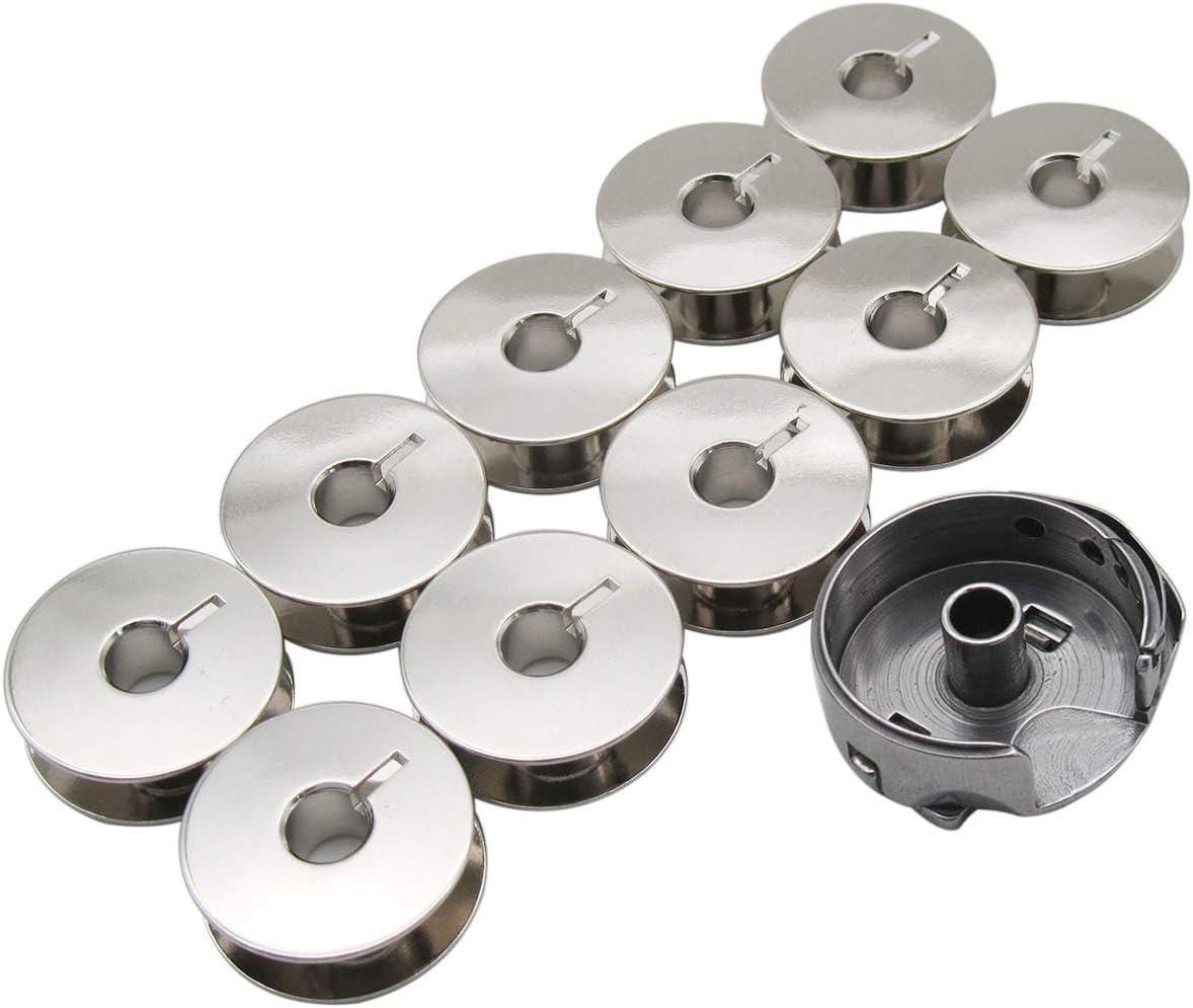 KUNPENG - 1piezas BOBBIN CASE & 10 piezas BOBBINS ajuste para ...