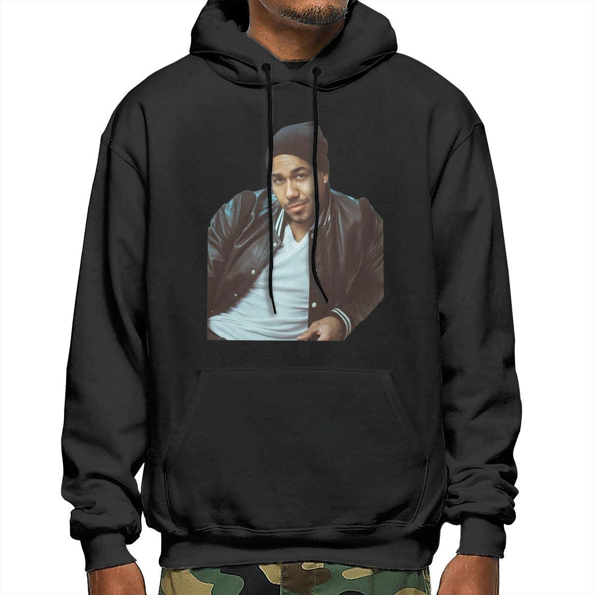 Romeo Santos Mens New Hoodie with Hat Fashion Sweater Casual ...