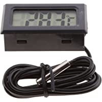 Dolity Digital LCD Termómetro de Agua digital LCD, Indicador de temperatura -50 ° C ~ 110 ° C - Negro