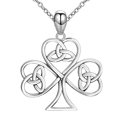 925 Real Sterling Silver Unique Celtic Knot Butterfly Charm Love Heart Pendant Necklace Jewelry for Women 6EZXzN