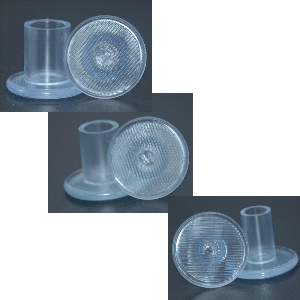 S//M//L Baoii 6 Pares de Protectores de tal/ón Alto Transparente Tapones de tal/ón 3 tama/ños Talones Zapatos Talones Tapones Cubiertas