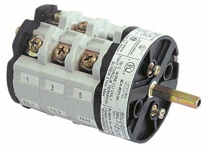 Bremas CS0327419 - Interruptor giratorio para cafetera Rancilio Z11, S20, S20NSF (6 pines