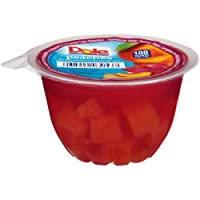 Dole Fruit Bowls, Peaches in Strawberry Flavored Gel, 4.3oz, 36 cups