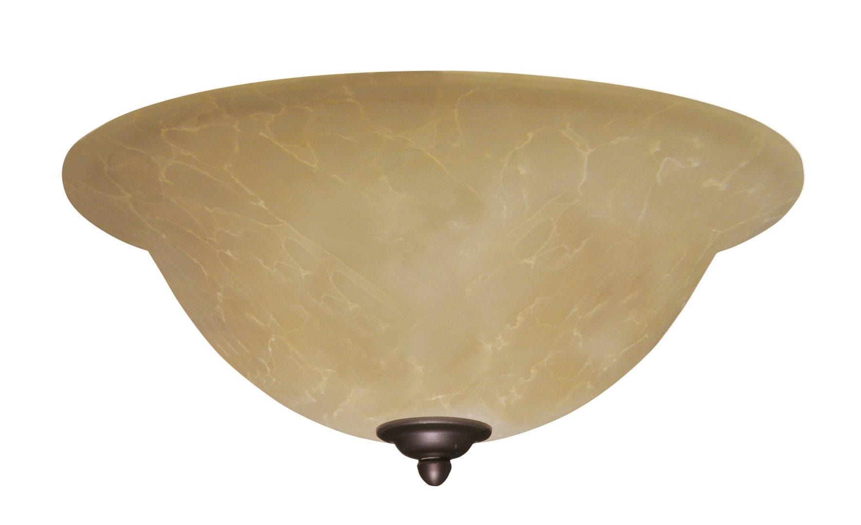 Emerson Ceiling Fans LK71VNB Amber Parchment Light Fixture for Ceiling Fans, Medium Base CFL