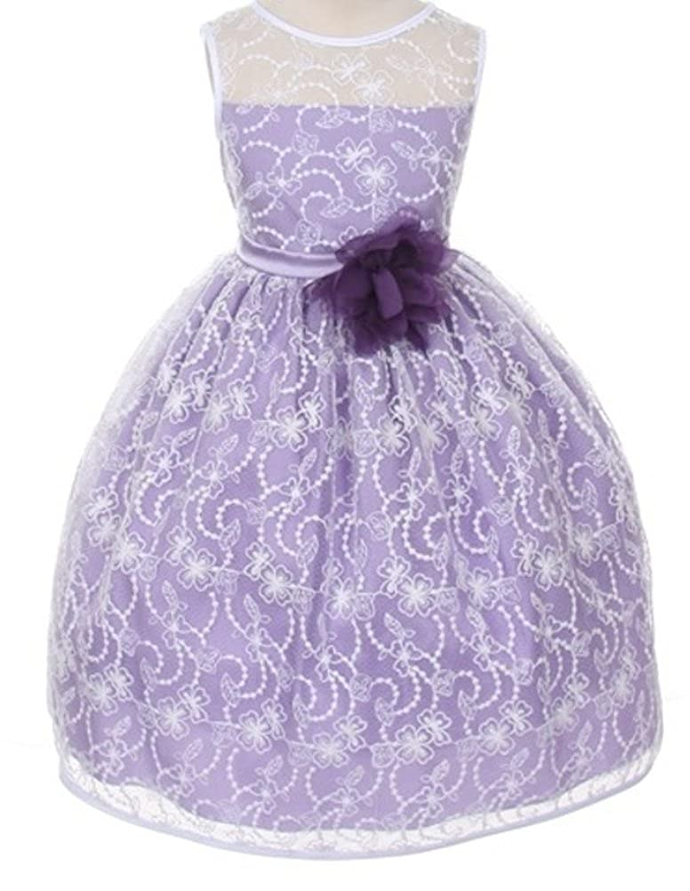 Amazon Big Girls Flower Girls Dress Lavender Quality Lace