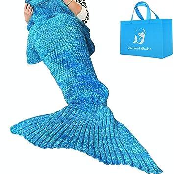 Meerjungfrau Decke Handgemachte Häkeln Meerjungfrau Flosse Decke