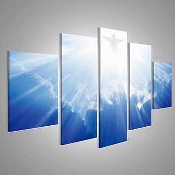 islandburner Bild Bilder auf Leinwand Helles Licht von Jesus ...