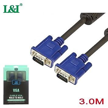 L&I VGA Cable 3m , Cable VGA Macho a Macho VGA a VGA Monitor Cable ...