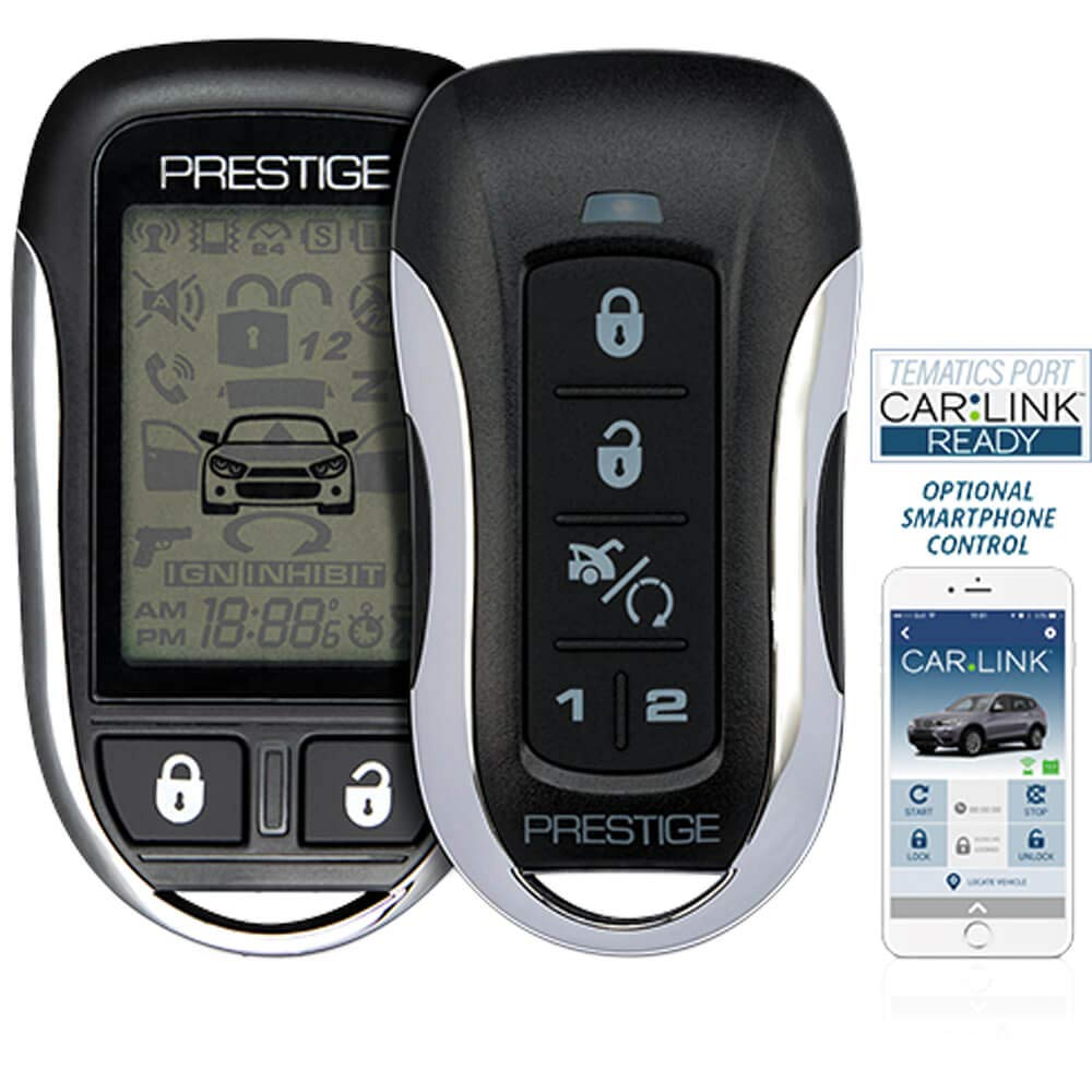 Prestige APS997Z Two-Way LCD Confirming Remote Start & Alarm 1-Mile Range by Prestige
