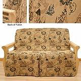 New World Columbus Skirted Futon Slipcover Full 5 pc pillow set 630