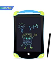 8.5Inch LCD Writing Tablet Colorful,Portable eWriters Drawing Board for Kids Toddlers with Stylus Erase Magnetic Doodle Sketch Digital NotePad Bulletin for Preschool Learning Toys Christmas Gifts