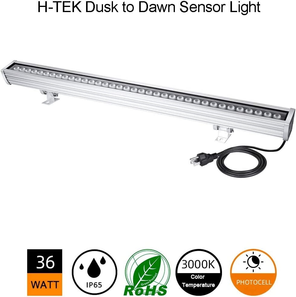 Dusk to Dawn LED Wall Washer Light Photocell Included , 36W Warm White 3000K, 120V, Effectively Protect Your Properties, Yard Light for Area Lighting