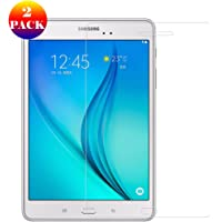 GOGODOG Compatible with Samsung Galaxy Tab E 8.0 Screen Protector Tempered Glass Film [2 Pack] Anti-Fingerprint Crystal Clear 9H Hardness Transparent Premium Foil for Tab E 8.0 (T337 / T377V)