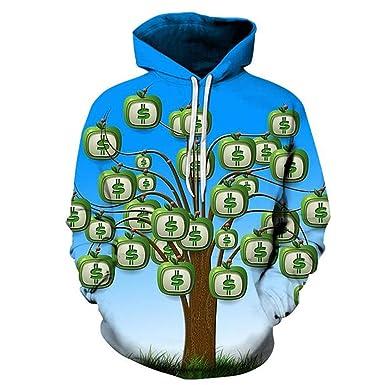 Unisex Money Doesnt Grow On Trees 3D Hoodie Sweatshirts S