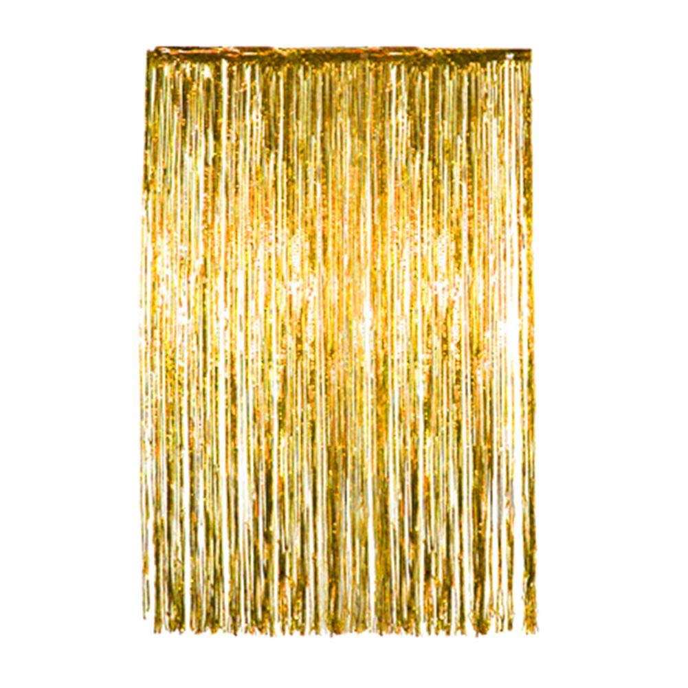 4 Pack Pink Metallic Foil Curtains Shiny Tinsel Fringe Curtains Shimmer Door Window Curtain for Birthday Wedding Party Christmas Photo Backdrop Decoration cheerfulus