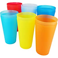 32-ounce Plastic Tumblers BPA Free Set of 12 in 6 Assorted Colors By YUYUHUA