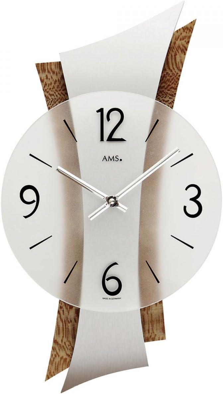 AMS Uhrenfabrik Clock, 43 x 6 x 428 cm, Silver