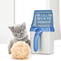 soundwinds Katzenstreu-Schaufel mit Halter Katzenstreuschaufel mit Box Haken-haltbarer Haustier-Kitty-Toilettenprozessor