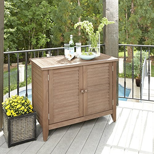 Home Styles 5134-64 Montego Bay Outdoor Solid Wood Buffet, Barnside Brown