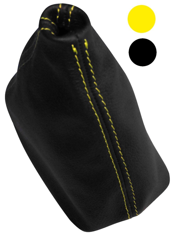 Soufflet levier de vitesse CUIR v/éritable avec coutures//surpiq/ûres couleurs diff/érentes Aerzetix noires