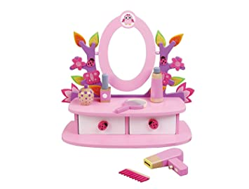 Childrens, Kids, Wooden Dressing Table, Vanity Mirror Set with