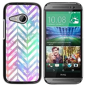 Paccase / SLIM PC / Aliminium Casa Carcasa Funda Case Cover para - White Iridescent Neon - HTC ONE MINI 2 / M8 MINI