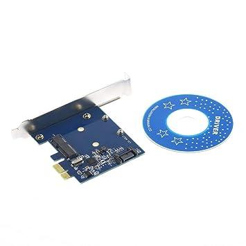MXECO PCI-E PCIe a mSATA SSD + SATA 3.0 Combo Extensor Adaptador ...