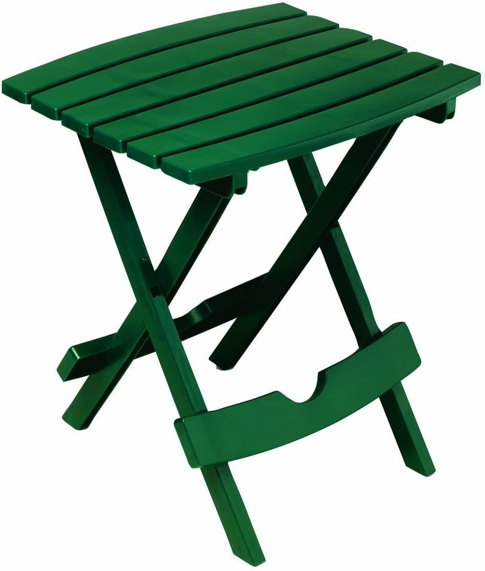 Adams Manufacturing 8500-16-3700 Plastic Quik-Fold Side Table, Hunter Green