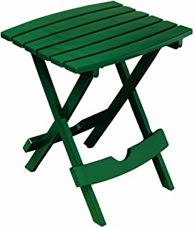 product image for Adams Manufacturing 8500-16-3700 Plastic Quik-Fold Side Table, Hunter Green