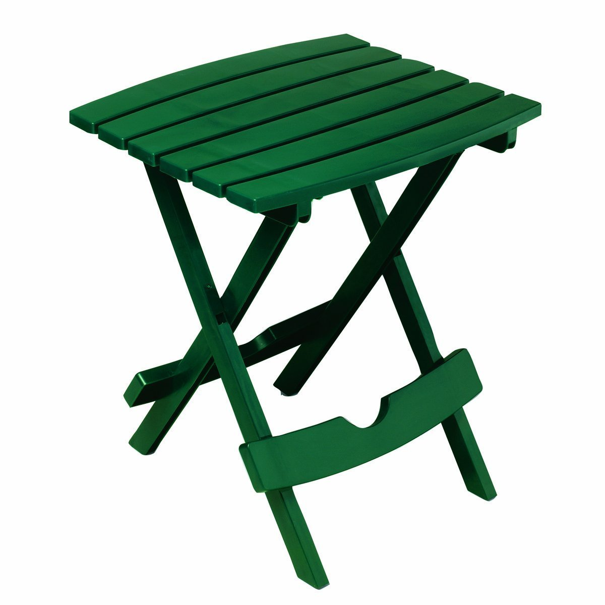 Adams Manufacturing 8500-16-3700 Plastic Quik-Fold Side Table, Hunter Green