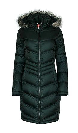 ffb8e5fd62 Columbia Women's Polar Freeze Long Down Jacket Omni Heat Black Winter Coat  ...