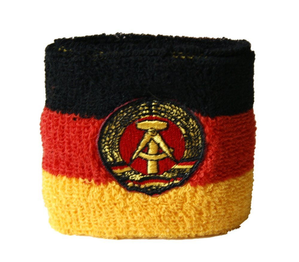 Schweißband Motiv Fahne / Flagge Deutschland DDR + gratis Aufkleber, Flaggenfritze® Flaggenfritze®