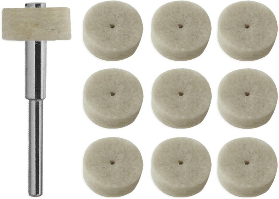 10pc 25mm Rotary Rubber Polishing Burr Point Abrasive Grinding Wheel For Dremel