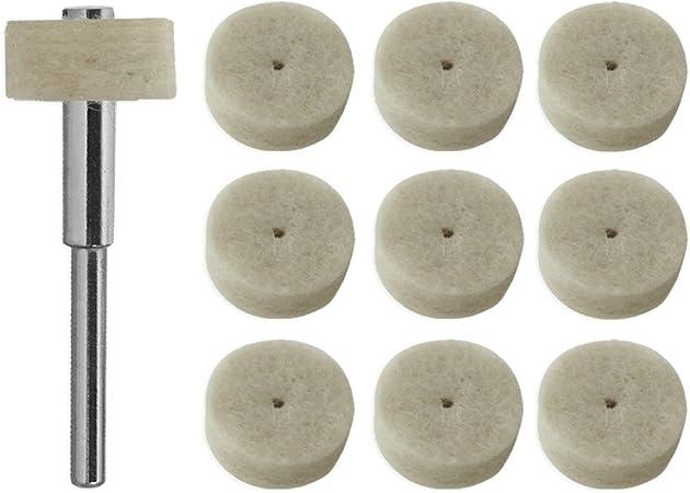IIT 80535 Polishing Wheels with Mandrel 10-Piece