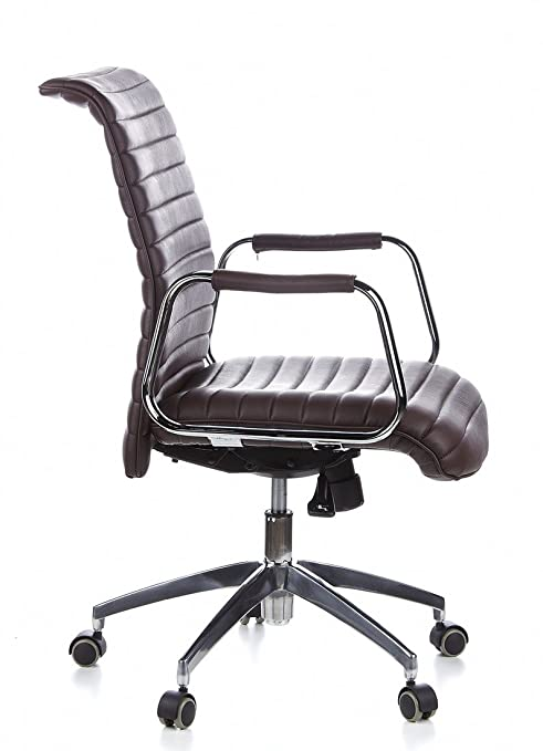 aspera 10 executive office nappa leather brown. Hjh OFFICE, 600914, Executive Chair, Office Swivel , ASPERA 10, Brown, Leather, Ergonomic Backrest, Synchronous Mechanism For Maximum Comfort, Aspera 10 Nappa Leather Brown E